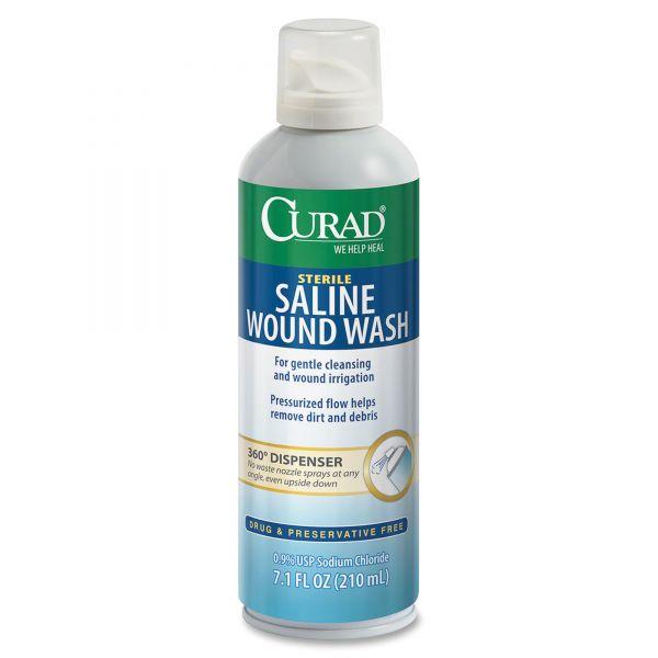 Curad Sterile Saline Wound Wash, 7.1 oz Bottle