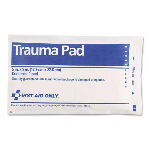 "First Aid Only Trauma Pad, 5"" x 9"""