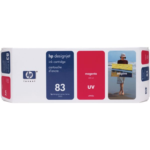 HP 83 UV Magenta Ink Cartridge (C4942A)
