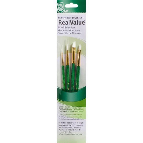 White Taklon Real Value Brush Set