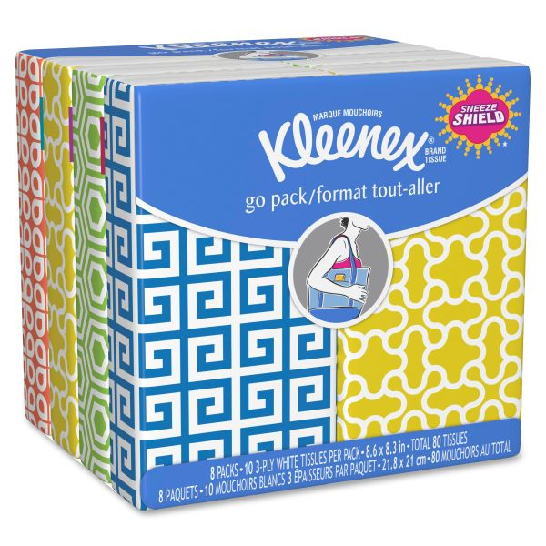 Kleenex 3-Ply Facial Tissue Pocket Packs