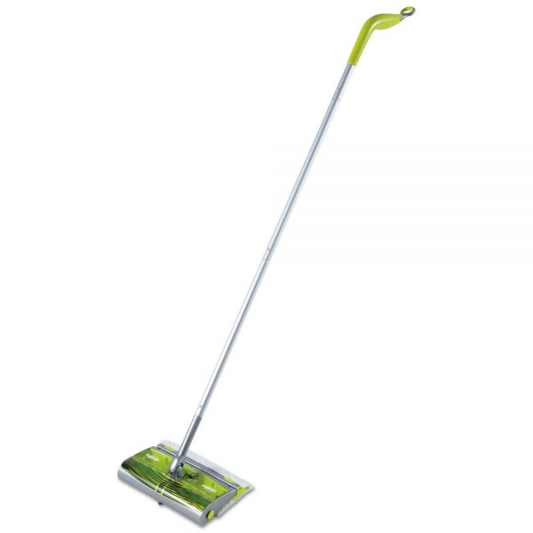 "Swiffer Sweep & Trap System, 10"" x 8"" Head, 46"" Handle, Green/Silver, 2/Carton"