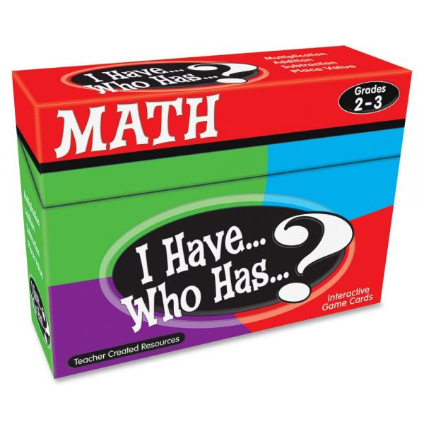 Teacher Created Resources 2&3 I Have Who Has Math Game