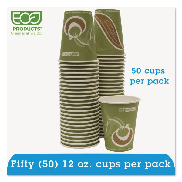 Eco-Products Evolution World 24% Recycled Content Hot Cups Convenience Pack - 12oz., 50/PK