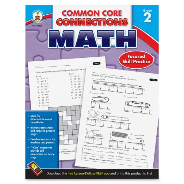 Carson-Dellosa Common Core Connections Gr 2 Math Workbook Education Printed Book for Mathematics