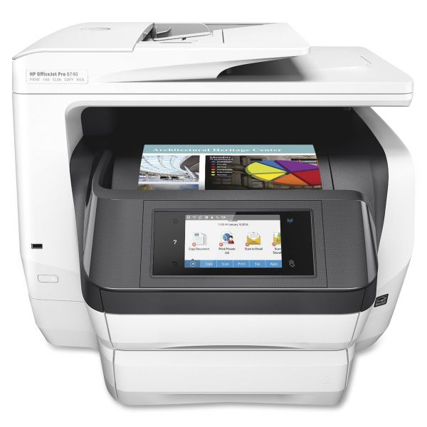 HP Officejet Pro 8740 Inkjet Multifunction Printer - Color - Plain Paper Print - Desktop