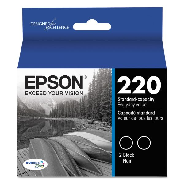 Epson 220 DURABrite Ultra Black Combo Pack Ink Cartridges (T220120D2)