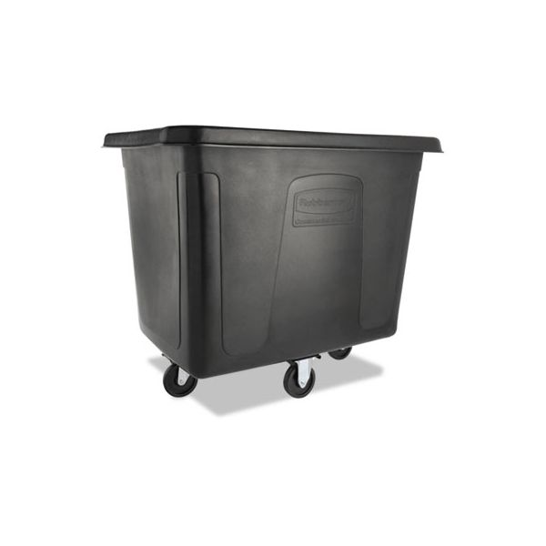 Rubbermaid Commercial Cube Truck, 500 lbs Cap, Black