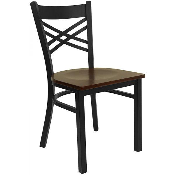 Flash Furniture ''X'' Back Metal Restaurant Chair