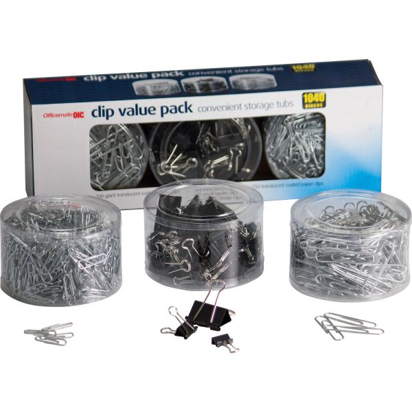 Officemate Clip Value Pack