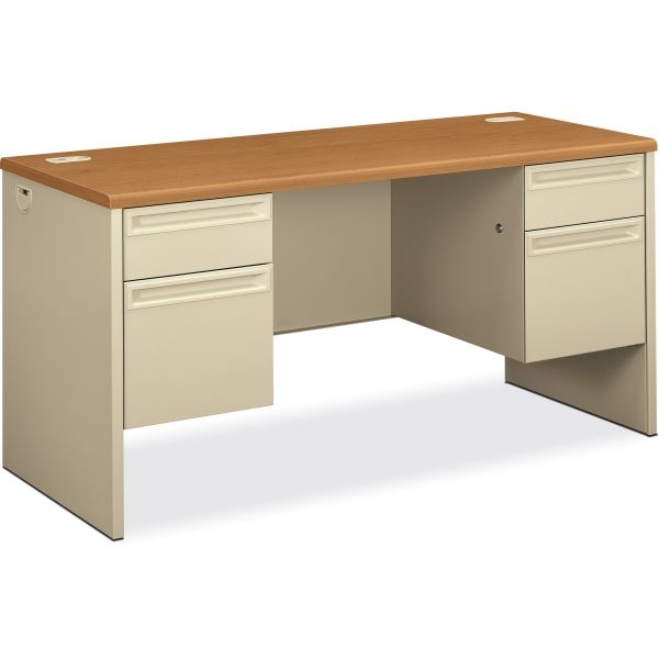 "HON 38000 Series Double Pedestal Credenza with Kneespace | 2 Box / 2 File Drawers | 60""W"