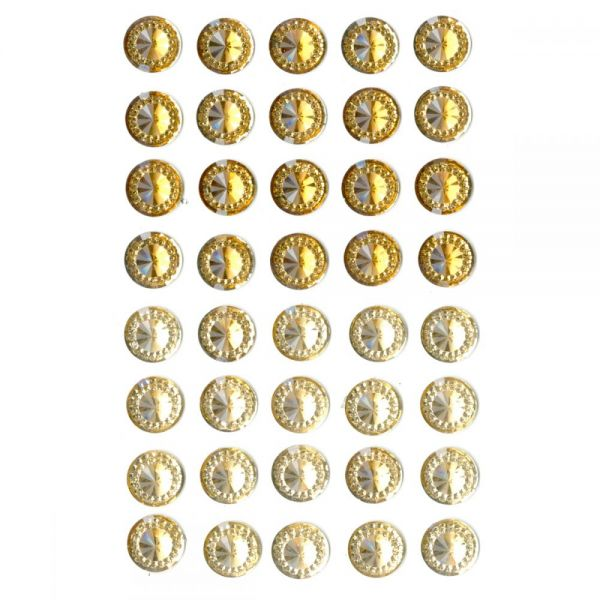 Bling Self-Adhesive Round Jewels 12mm 40/Pkg