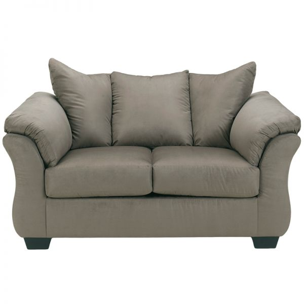 Flash Furniture Signature Design by Ashley Darcy Loveseat in Cobblestone Microfiber