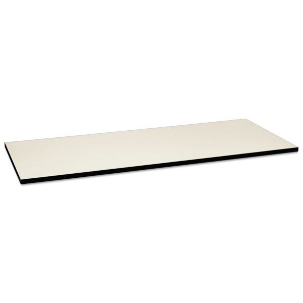 HON Huddle Multipurpose Rectangular Top, 72w x 30d, Silver Mesh/Black