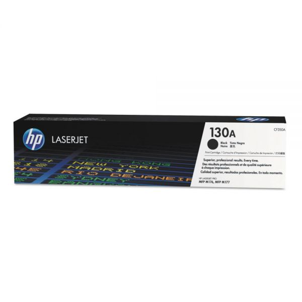HP 130A, (CF350A) Black Original LaserJet Toner Cartridge