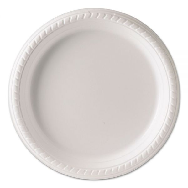 Dart Plastic Plates, 9 Inches, White, Round, 25/Pack, 20 Packs/Carton