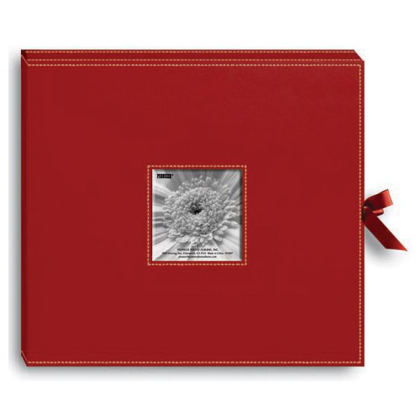 "Sewn Leatherette D-Ring Scrapbook Box 13""X14.5"""
