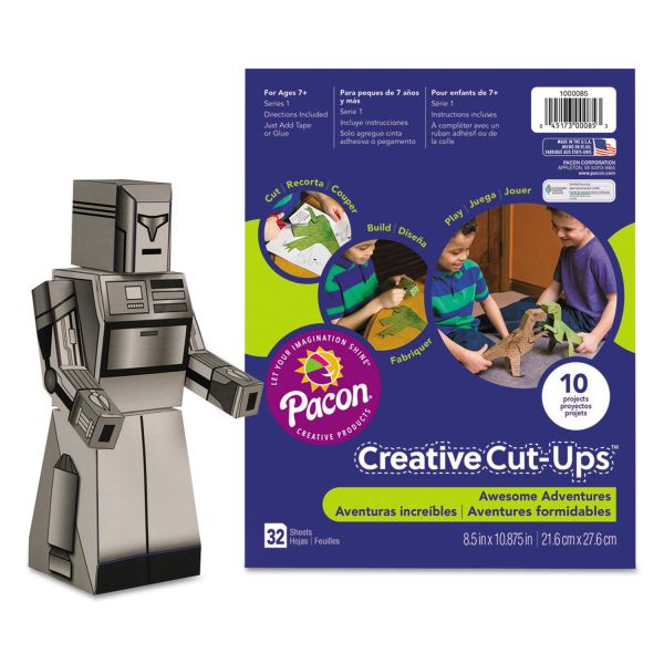 Pacon Creative Cut Ups, Awesome Adventures, 8 1/2 x 10 1/2, 32 Sheets