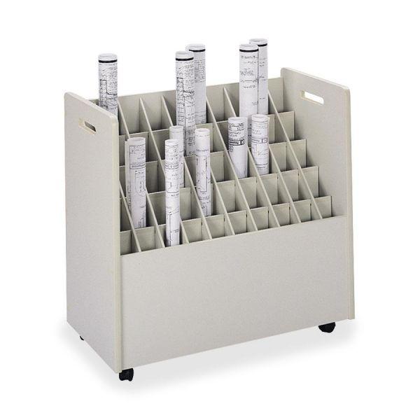 Safco 50-Compartment Mobile Roll File