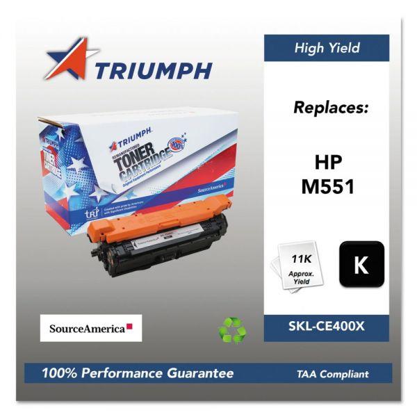 Triumph Remanufactured HP 507X (CE400X) Toner Cartridge