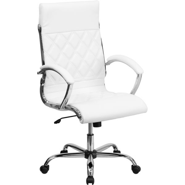 Flash Furniture High Back Designer Swivel Office Chair [GO-1297H-HIGH-WHITE-GG]