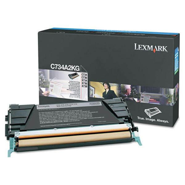 Lexmark C734A2KG Black High Yield Toner Cartridge