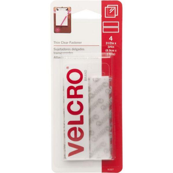 "VELCRO(R) Brand Thin Fasteners Tape 3/4""X3-1/2"" 4/Pkg"