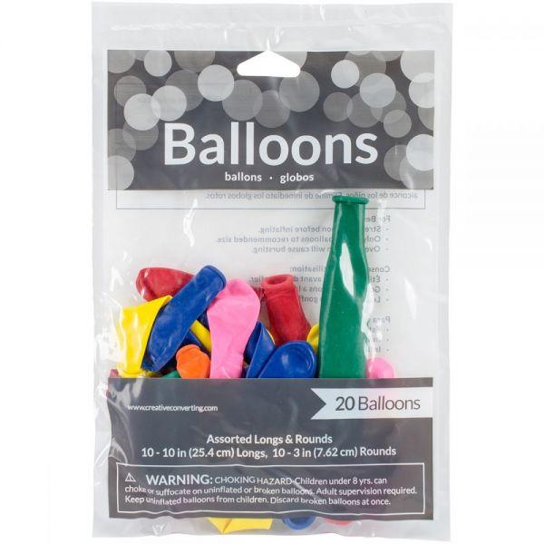 Balloon Long & Round Assortment 20/Pkg