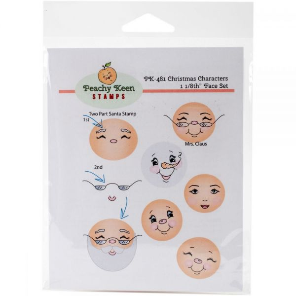 Peachy Keen Stamps Clear Face Assortment 7/Pkg