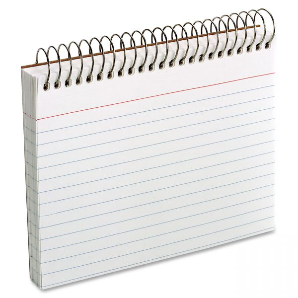 "Oxford 4"" x 6"" Ruled Spiral-Bound Index Cards"