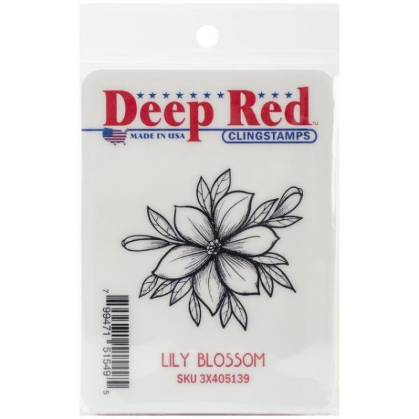 "Deep Red Cling Stamp 2""X2"""