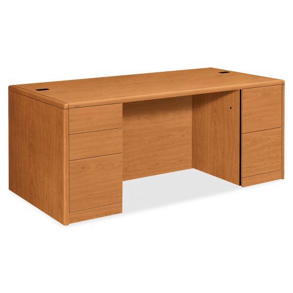 HON 10700 Double Pedestal Computer Desk
