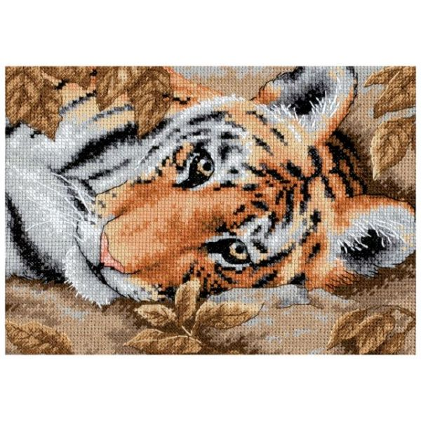 Dimensions Gold Petite Beguiling Tiger Counted Cross Stitch Kit
