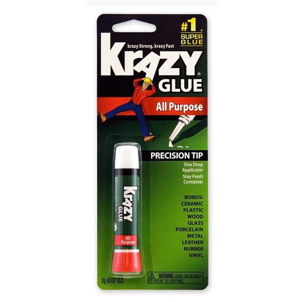 Krazy Glue All Purpose Krazy Glue, Precision-Tip Applicator, 0.07oz