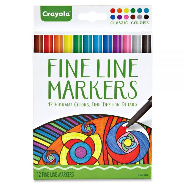Crayola Classic Colors Fine Line Markers Set