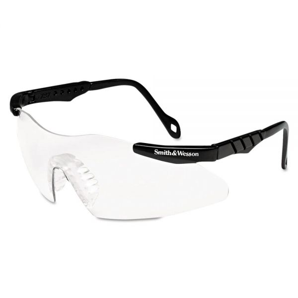 Smith & Wesson Magnum 3G Safety Glasses, Mini Black Frame, Clear Lens