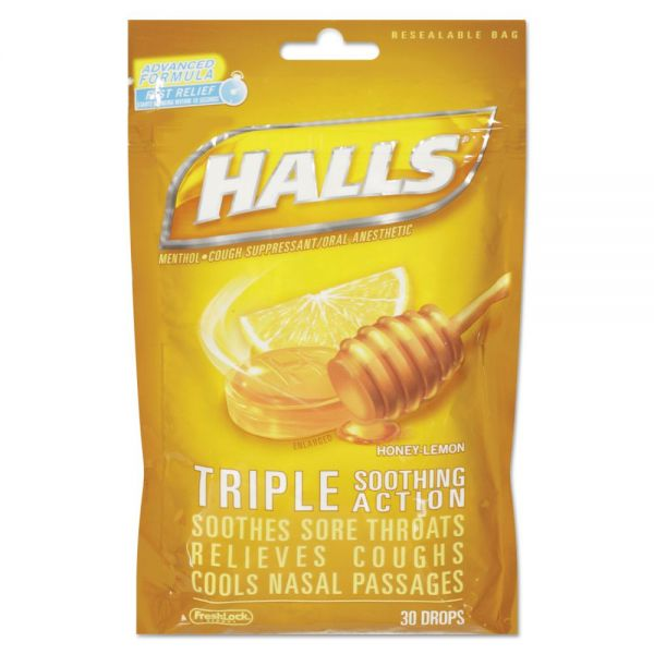HALLS Triple Action Cough Drops