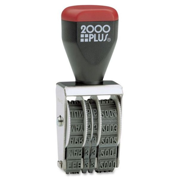 2000 Plus four-band date stamp, type size 1-1/2