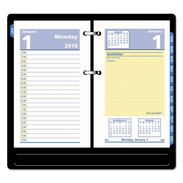 AT-A-GLANCE QuickNotes Desk Calendar Refill, 3 1/2 x 6, 2019