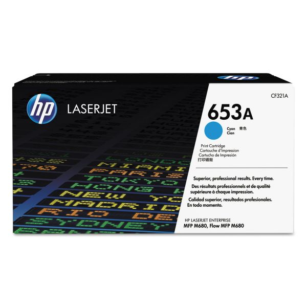 HP 653A Cyan Toner Cartridge (CF321A)