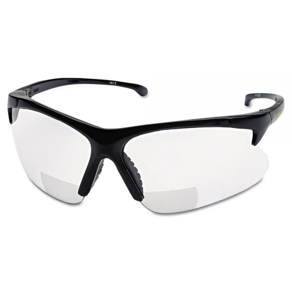 Smith & Wesson V60 30-06 RX Safety Readers, Black Frame, Clear Lens, 2.5 Diopter