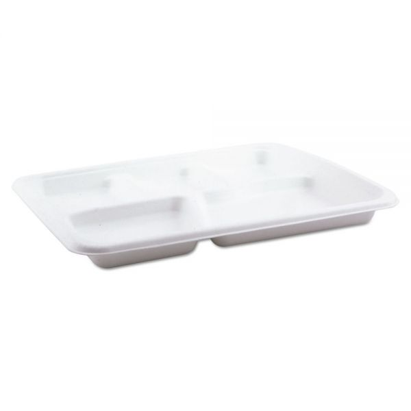 Pactiv Molded Fiber Compartment Food Trays