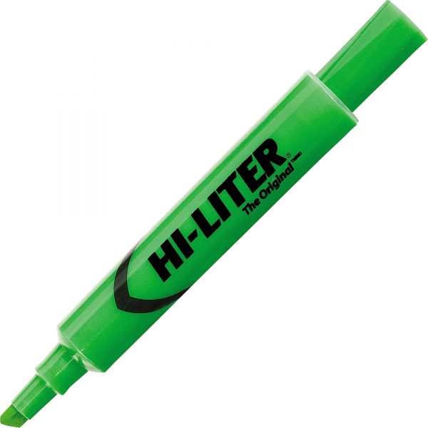 Avery HI-LITER Desk-Style Highlighter, Chisel Tip, Fluorescent Green Ink, Dozen