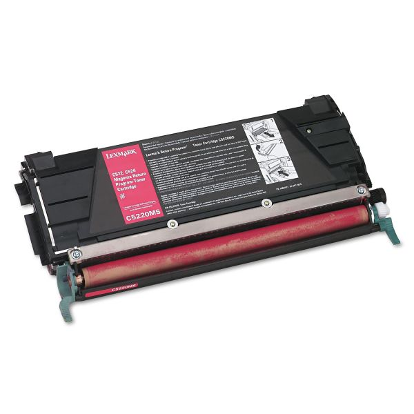 Lexmark C5220MS Magenta Return Program Toner Cartridge