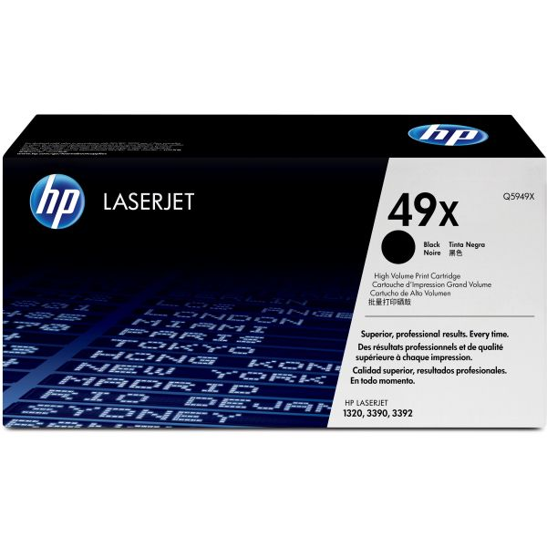 HP 49X Black High Yield Toner Cartridge (Q5949X)