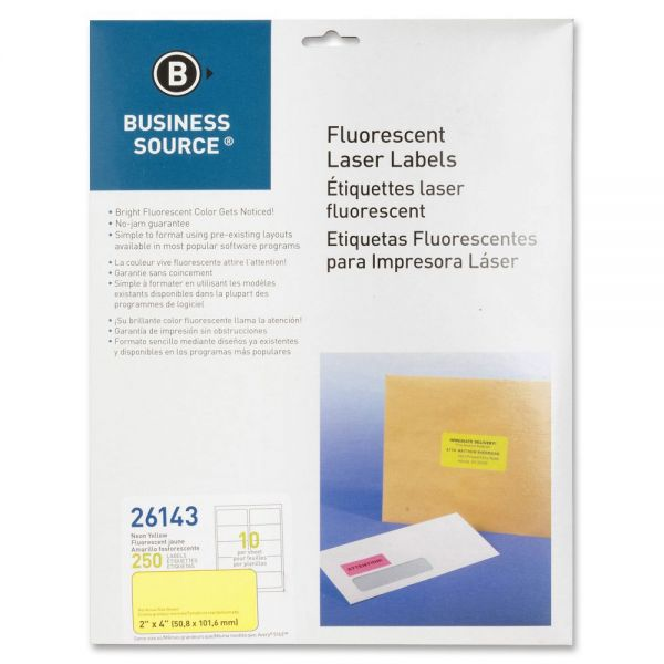 Business Source 26143 Color Coded Fluorescent Labels