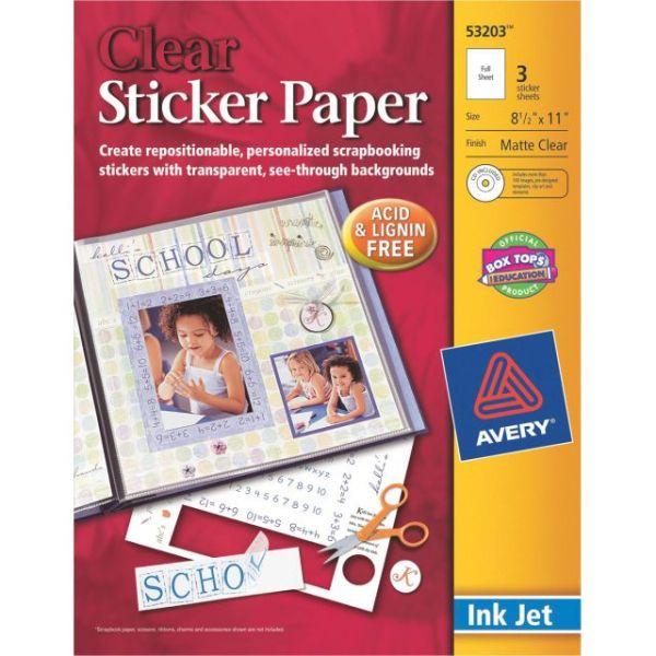 "Ink Jet Sticker Paper W/CD 8.5""X11"""