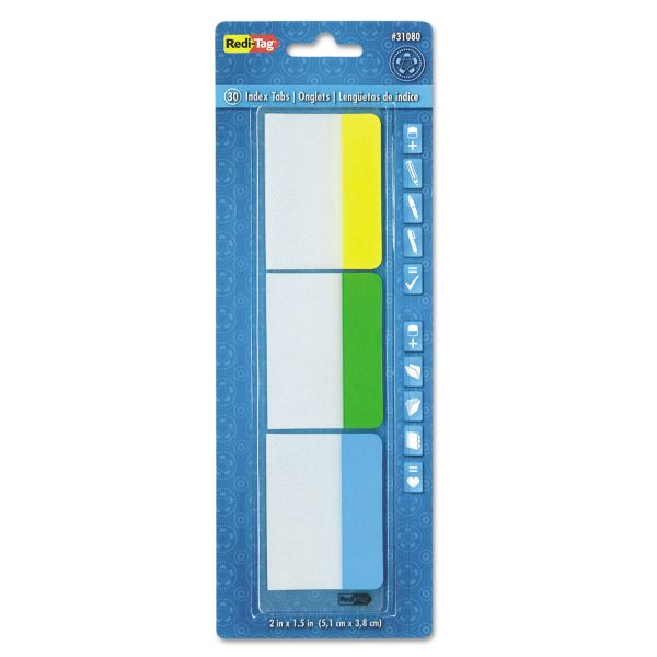 Redi-Tag Write-On Self-Stick Index Tabs