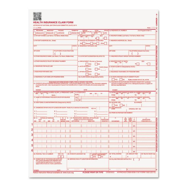 Paris Business Products CMS Forms, 8 1/2 x 11, 250 Forms