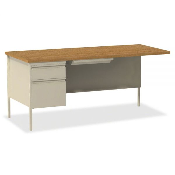 Lorell Fortress Series Left-Pedestal Computer Desk